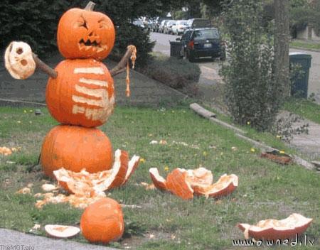 Mad pumpkin goes violent