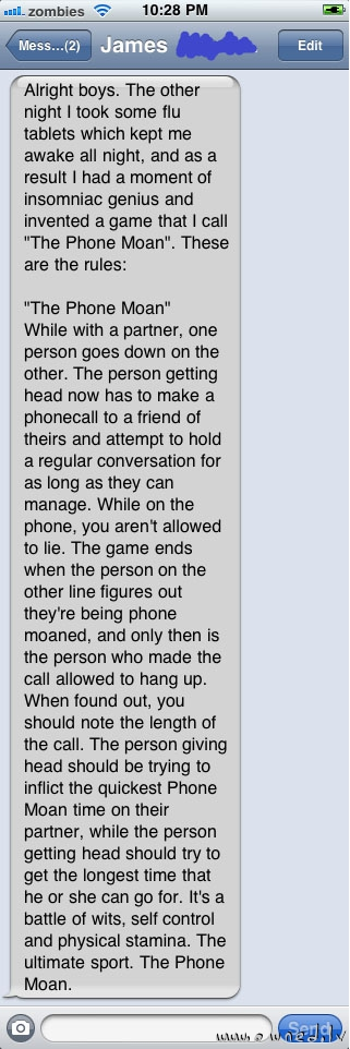 The phone moan