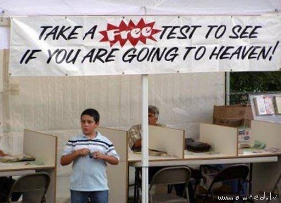 Take a free test