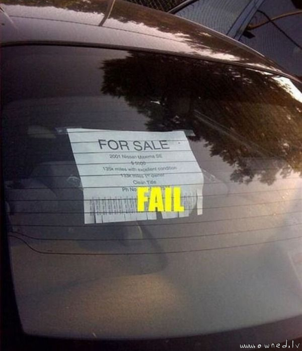 For sale fail