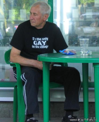 The only gay in the village