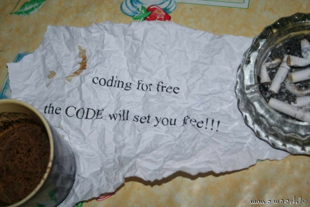 Code will set you free
