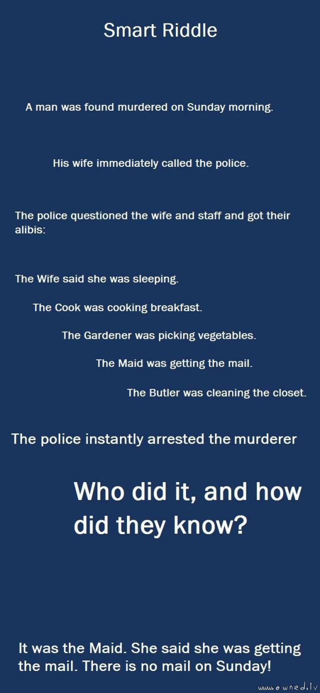 Smart riddle