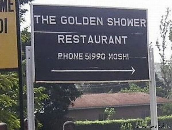 The golden shower restaurant