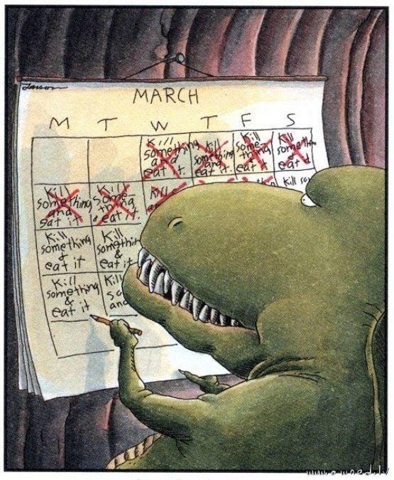 Jurassic calendar