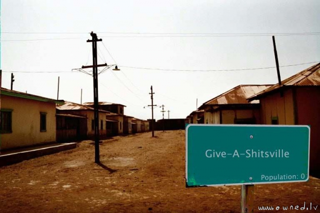 Give-a-shitsville