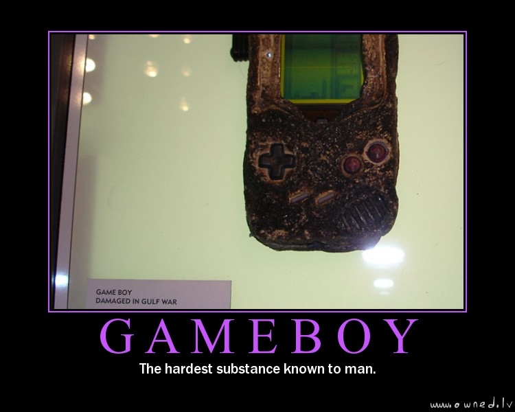 Gameboy : Damaged in Gulf war