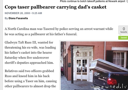 Cops taser pallbearer