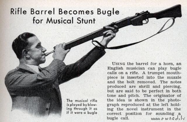 Musical rifle