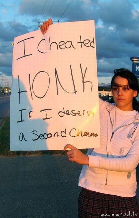 I cheated