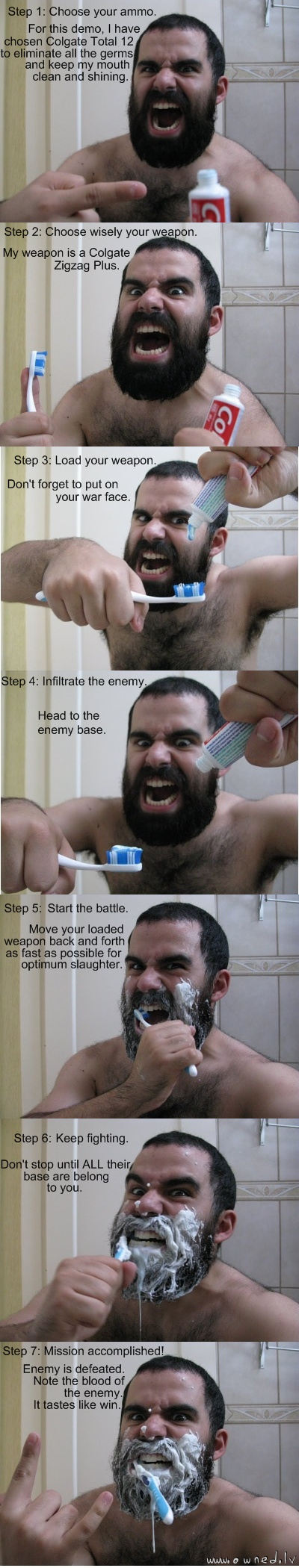 Hardcore tooth brushing
