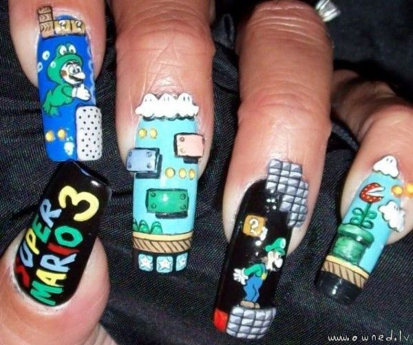 Super Mario nails