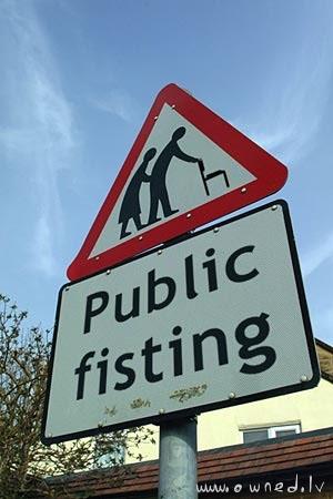 Public fisting