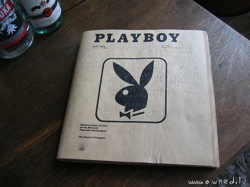 Playboy for the blind
