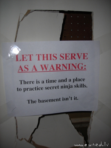 Where to practice secret ninja skills