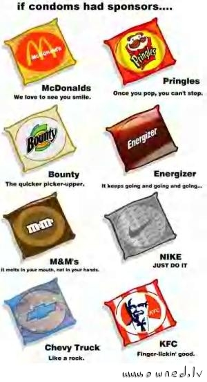 If condoms had sponsors