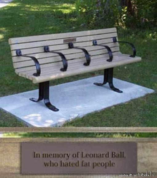 In memory of Leonard Ball
