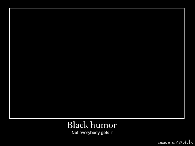 Black humor