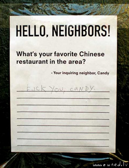 Hello neighbors