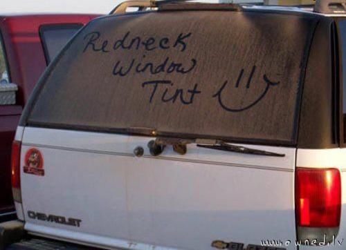 Redneck window tint