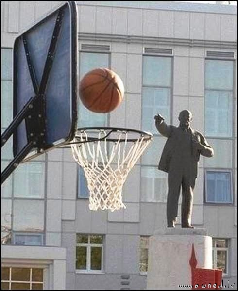 Lenin playing basketball