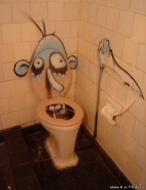 Scary toilet