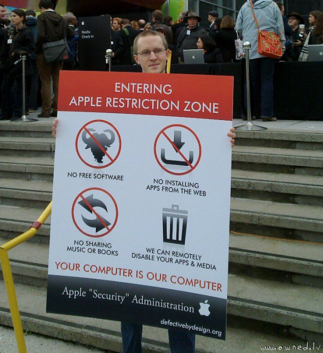Apple restriction zone