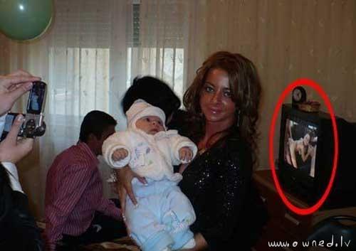 Casual family photo