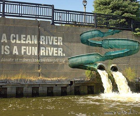 A clean river is a fun river