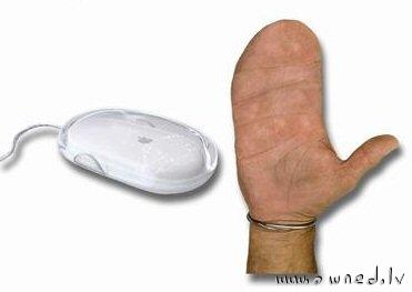 Macintosh users hand