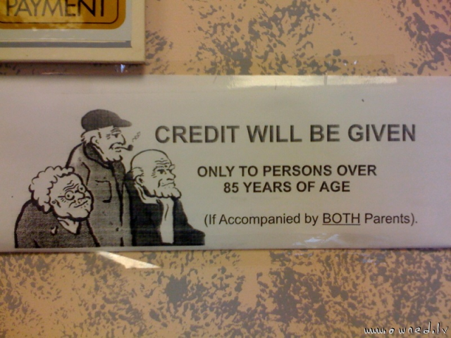 Credit will be given