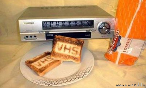 VHS toaster