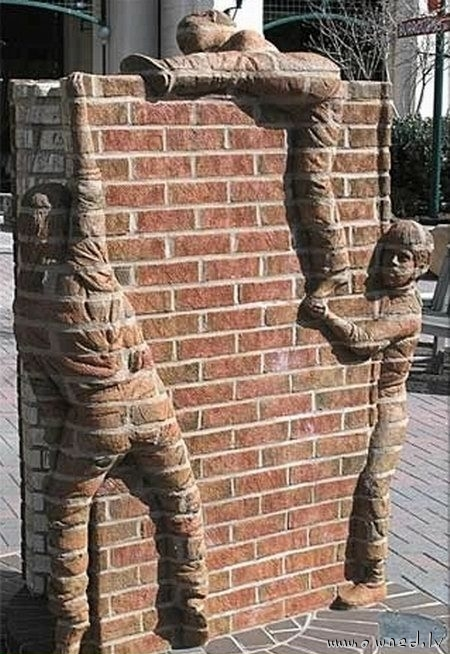Strange wall