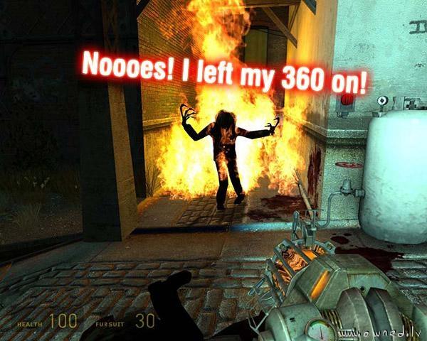 Noooes! I left my xbox360 on !!!