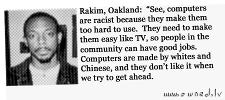 Computers are racist