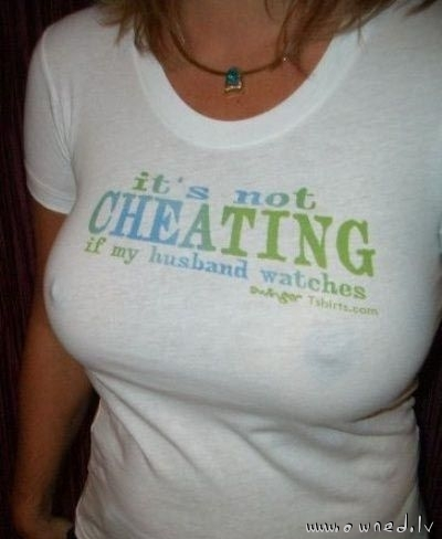 It is not cheating
