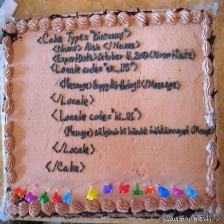 Programmers birthday cake