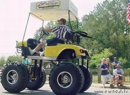 Monster golf cart