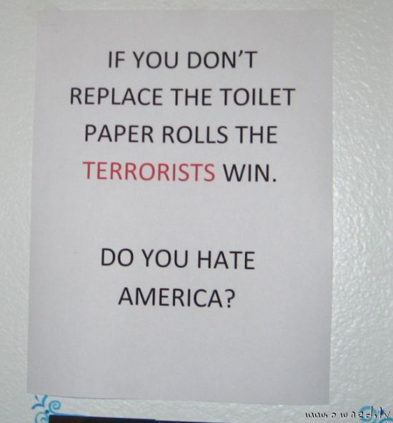 Do you hate America ?