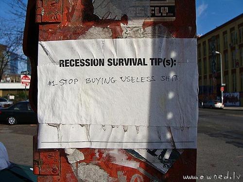 Recession survival tips