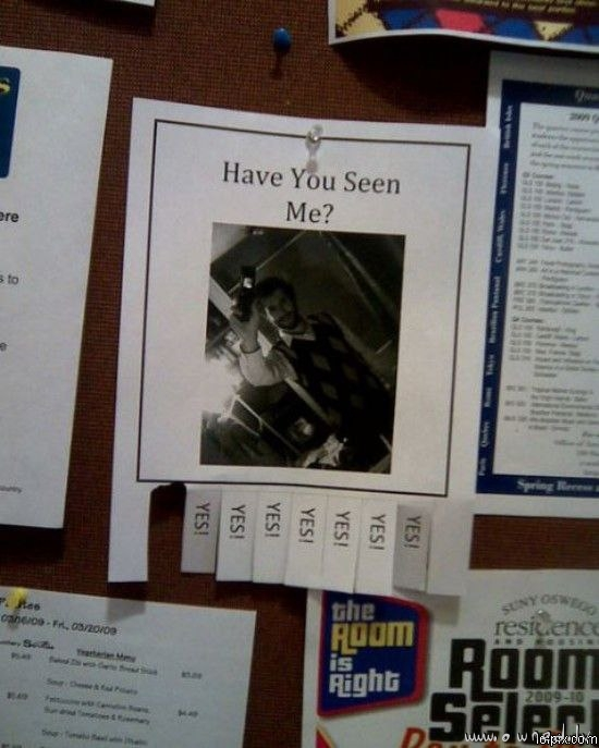 Have you seen me ?