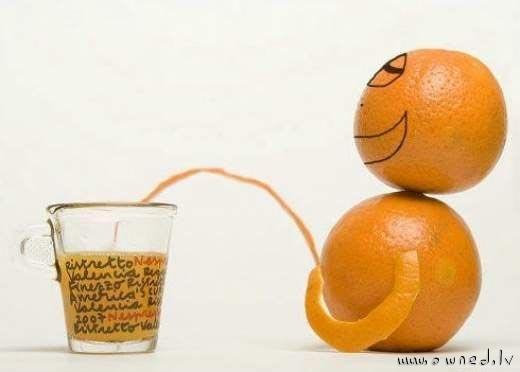 Peeing orange