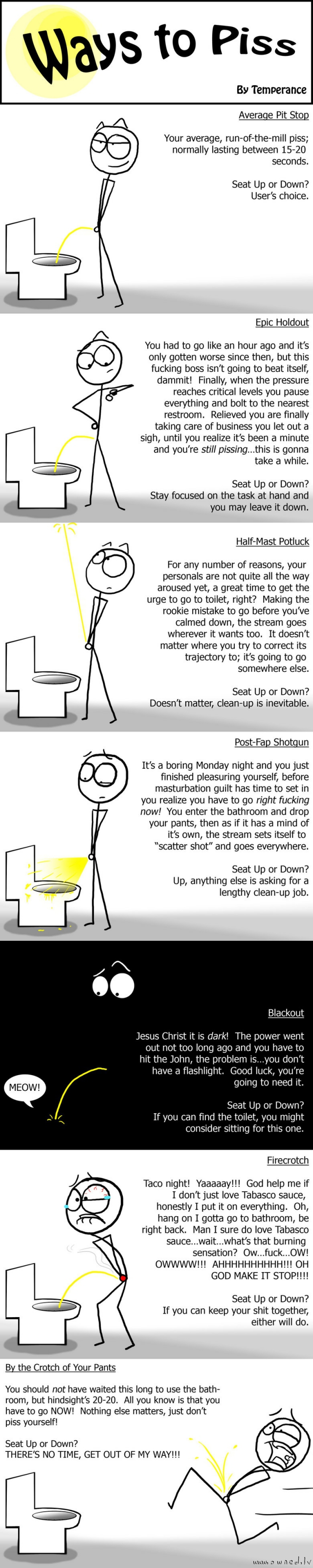 Ways to piss