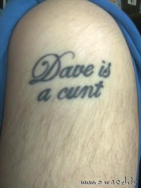 Stupid tattoo