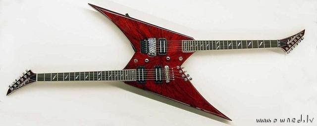 Strange dual guitar