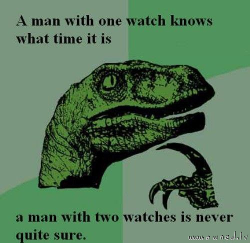 A man with two watches