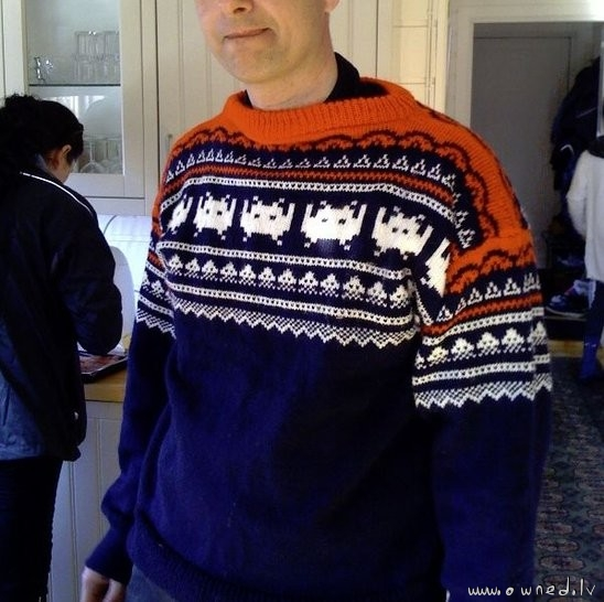 Awesome galaga sweater