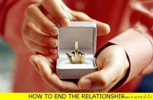 How to end the relationship