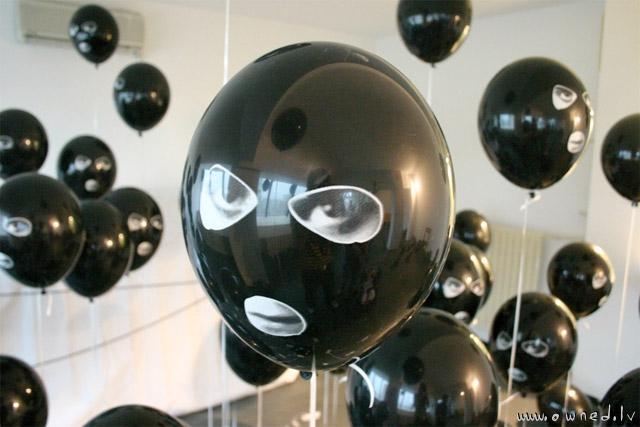Strange balloons
