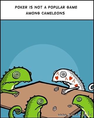 Cameleons and poker